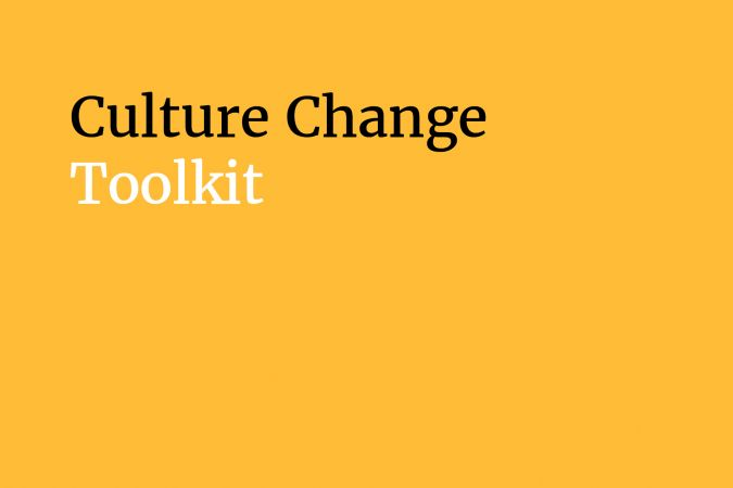 Arts Council England's Culture Change Toolkit