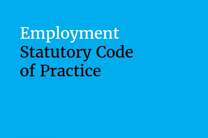 Equality Commission Employment Code of Practice