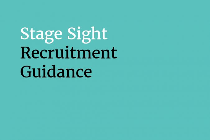 Stage Sight Recruitment Guidance